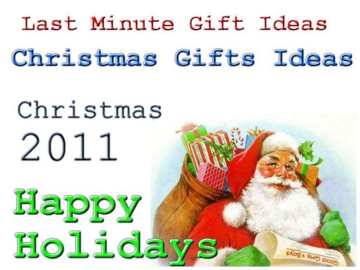 Christmas Gifts Ideas  Christmas 2011