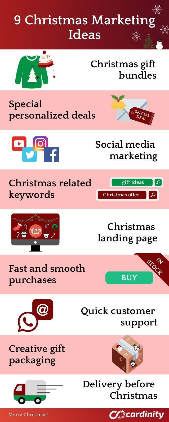 9�Christmas�Marketing �Ideas Christmas gift bundles Special personalized deals Social media marketing Christmas related ke...