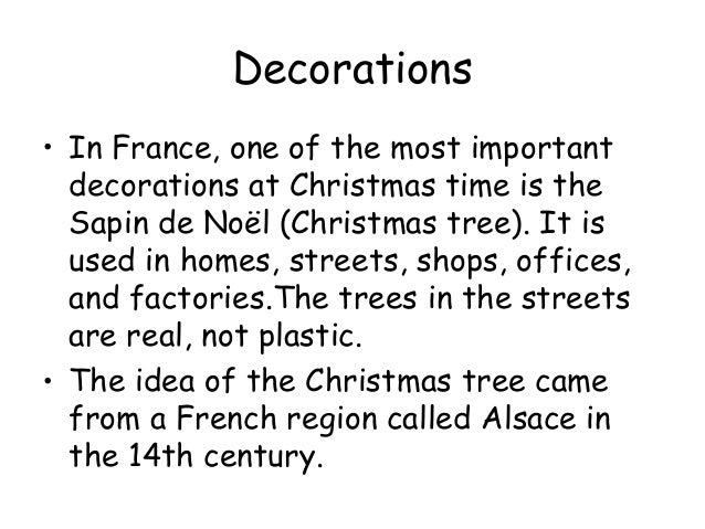 Christmas In France Decorations.Christmas In France