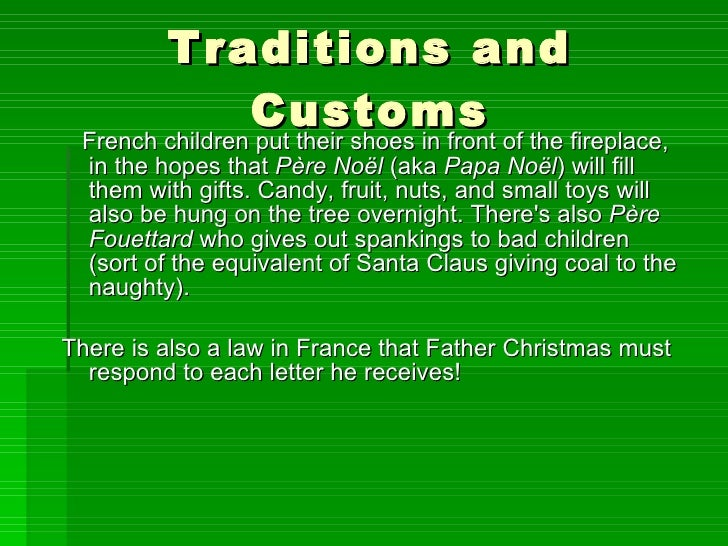 France christmas gift giving traditions
