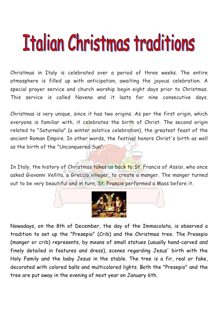 christmas in italy - Italian Christmas Traditions