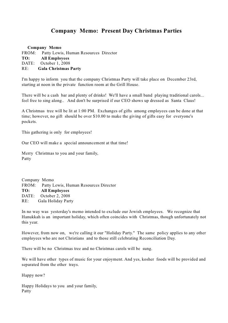 Christmas memo for Hr memo template