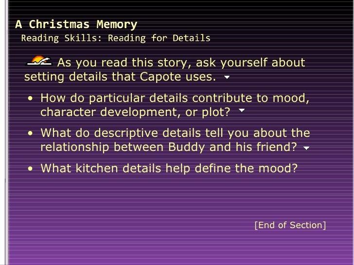 christmas memory - A Christmas Memory Full Text