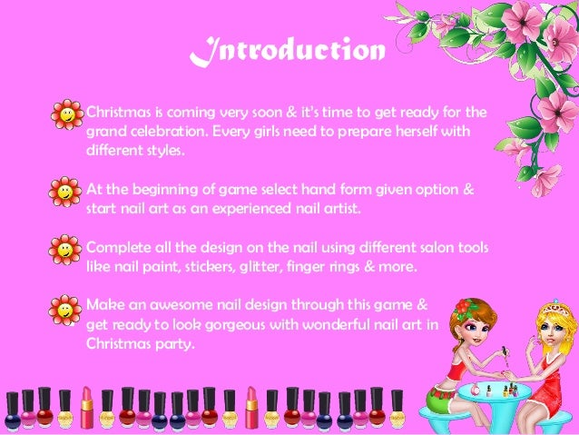 Christmas nail salon makeover introduction christmas prinsesfo Image collections