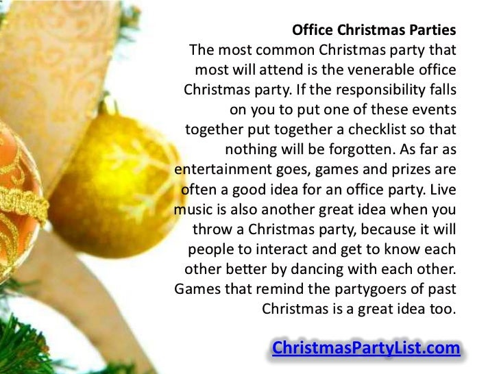 Office Christmas Party Entertainment Ideas Part - 40: Office Christmas ...