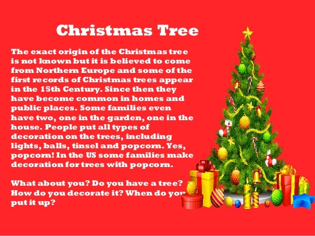 Christmas powerpoint 2014 What is the meaning of tree