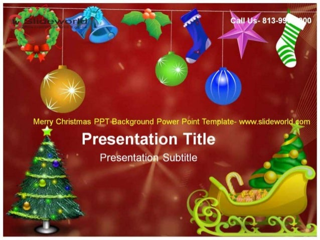 Christmas Powerpoint Background.Christmas Ppt Background Powerpoint Template