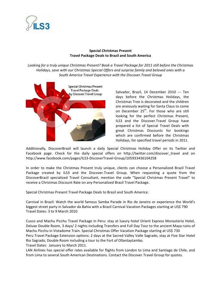 Christmas present travel deals   brazil - south america