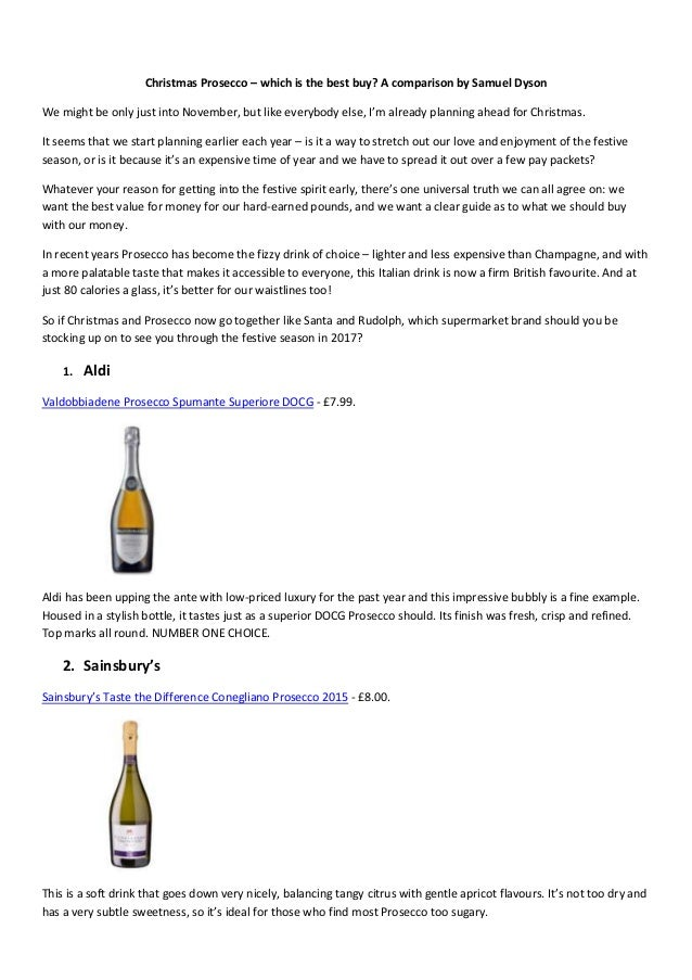 christmas prosecco which is the best buy a comparison by samuel dyson we might - Best Buy Hours Christmas Eve