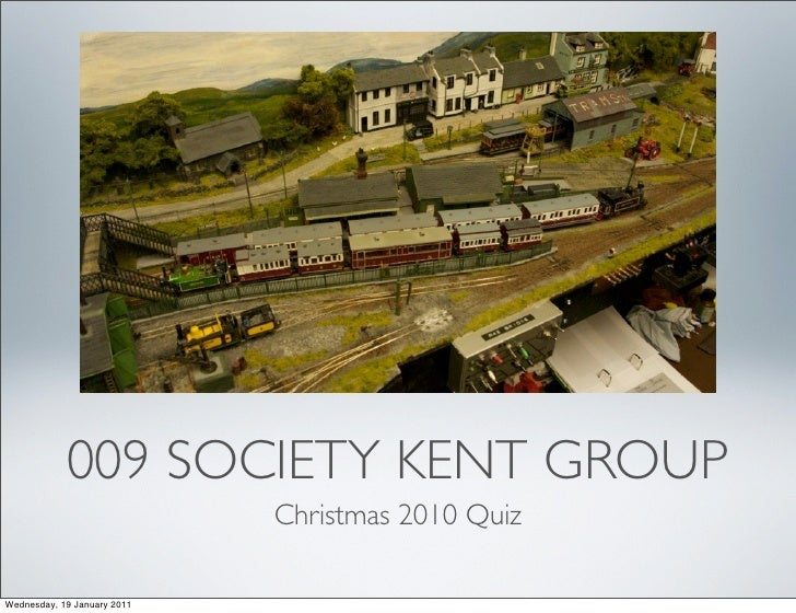 009 Society Quiz Xmas 2010