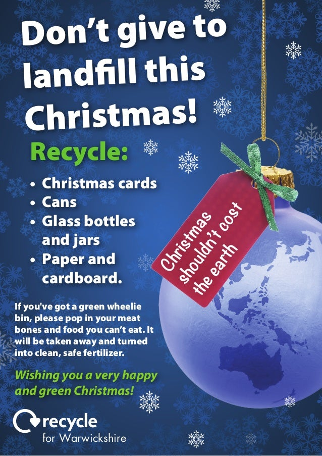 Christmas Recycling Poster