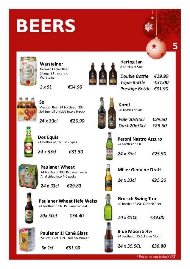 5 Hertog Jan  Warsteiner  8 bottles of 50cl  German Larger Beer 2 large 5 litre cans of Warsteiner  2 x 5L  €34.90  Sol Me...
