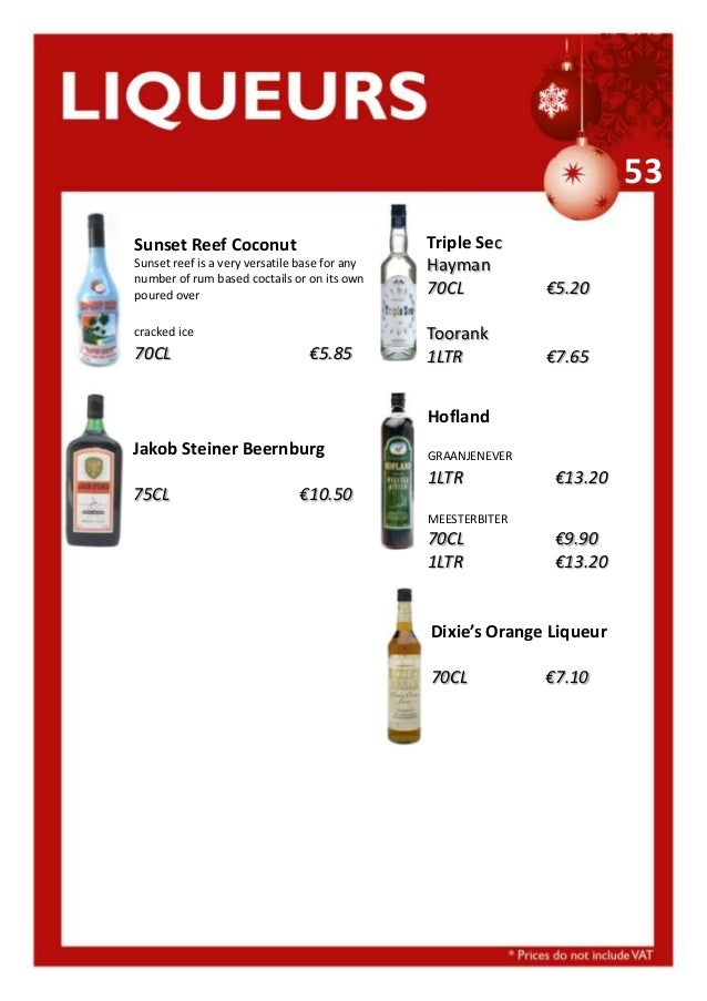53 Sunset Reef Coconut Sunset reef is a very versatile base for any number of rum based coctails or on its own poured over...