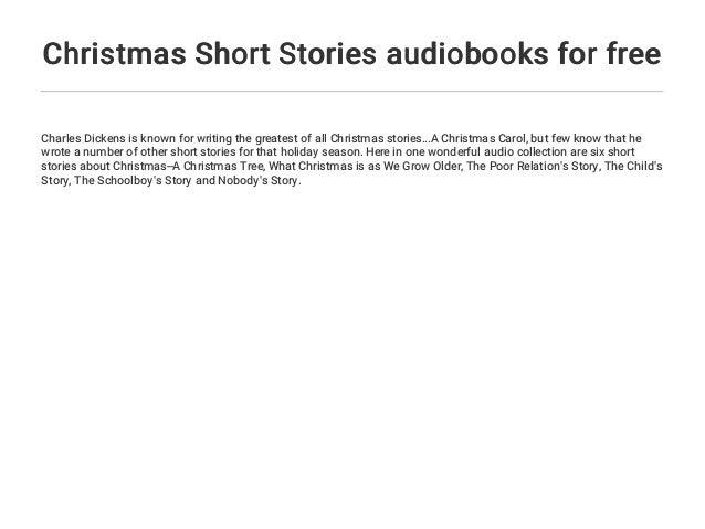 Short Christmas Stories.Christmas Short Stories Audiobooks For Free