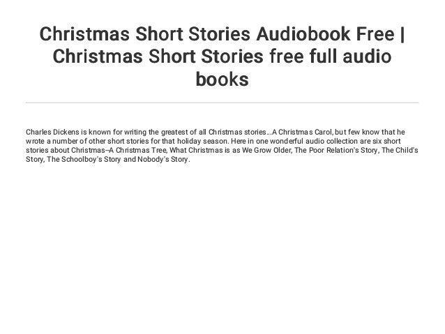 Christmas Short Stories.Christmas Short Stories Audiobook Free Christmas Short