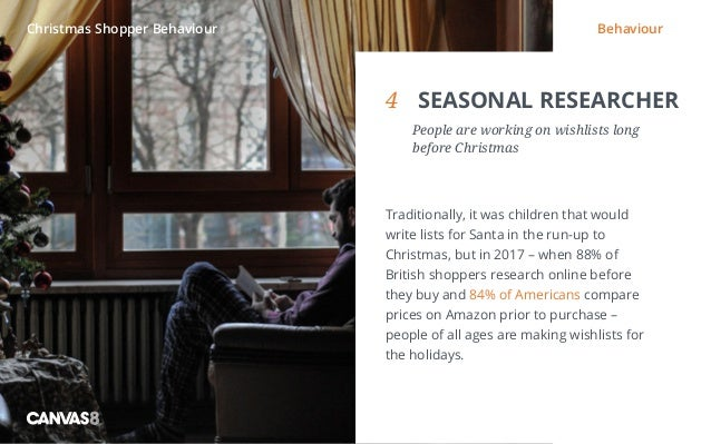 Eating and drinking / 1 4 SEASONAL RESEARCHER  People are working on wishlists long before Christmas Traditionally, it w...