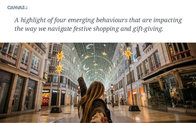 A highlight of four emerging behaviours that are impacting the way we navigate festive shopping and gift-giving.