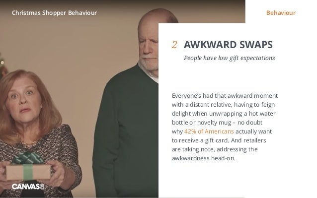 Eating and drinking / 1 1 DIRTY DINING People don't always want to eat clean2 AWKWARD SWAPS  People have low gift expec...
