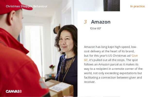Eating and drinking / 1 3 Amazon  'Give 60' Amazon has long kept high-speed, low- cost delivery at the heart of its bran...