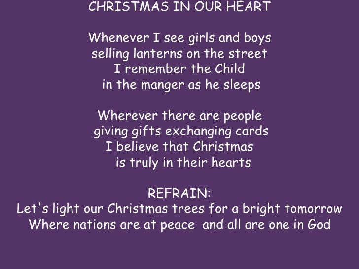 christmas in our - Christmas In Our Hearts Lyrics