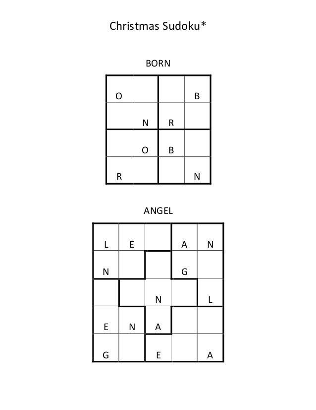 Christmas Sudoku.Christmas Sudoku Grades 2 To 5