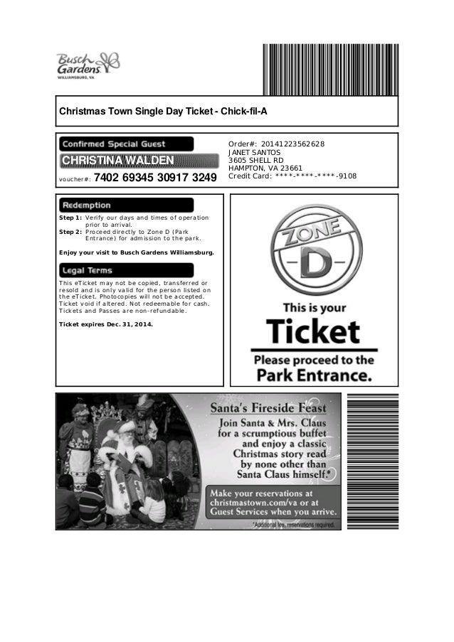 Captivating Christmas Town Busch Gardens