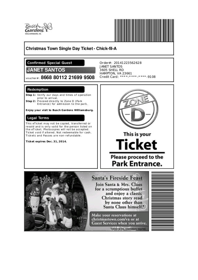 Busch Gardens Single Day Ticket Garden Ftempo