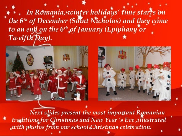 Romanian traditions for Christmas and New Year's Eve
