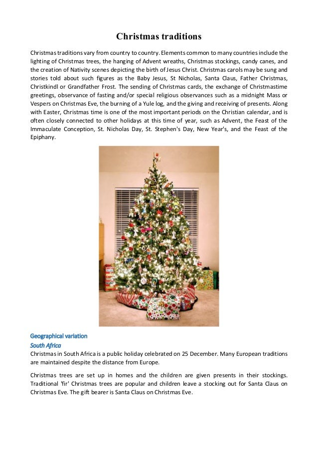 Christmas Traditions In South Africa.Christmas Traditions