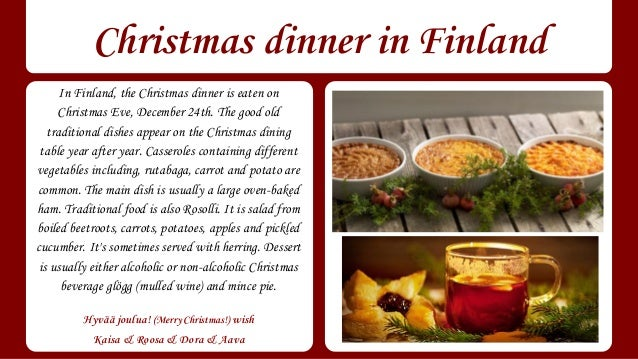 Christmas traditions in Finland, Hungary, Spain and Slovenia