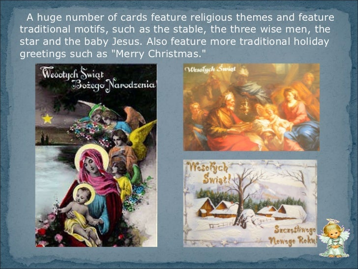 Christmas Traditions in Poland - Christmas cards