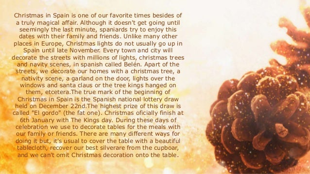Christmas Traditions In Spain.Christmas Traditions In Spain