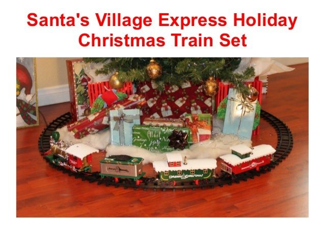 Santau0027s Village Express Holiday Christmas Train Set ...