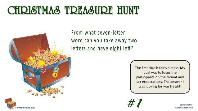 Christmas treasure hunt 2013
