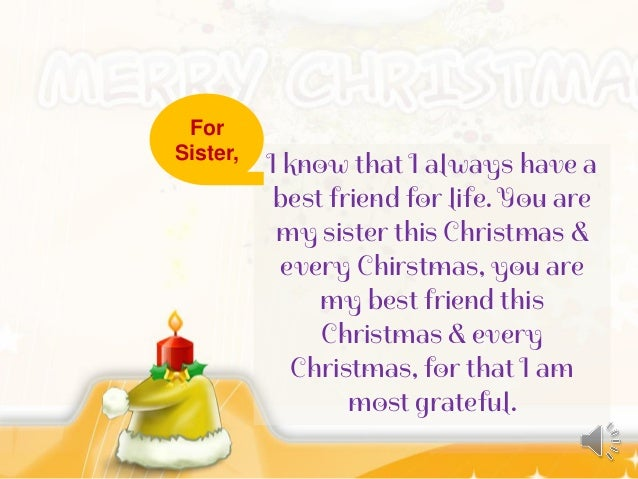 christmas wishes for my best friend