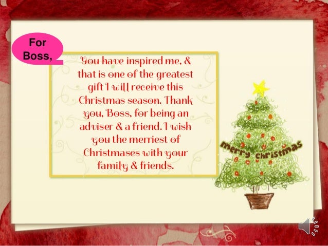 christmas card messages for boss