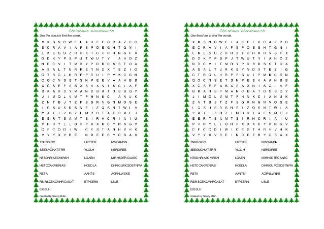 image regarding Printable Jumble called Xmas wordsearch/phrase jumble printable