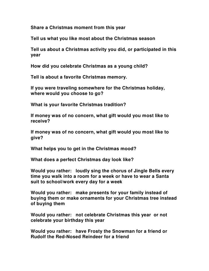 Share a Christmas moment from this yearTell us what you like most about the Christmas seasonTell us about a Christmas acti...