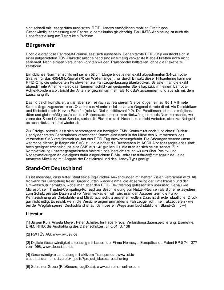 Christof windeckil-tags versteckte rfid-chips unter der tuv-plakette zur totalen uberwachung Slide 3