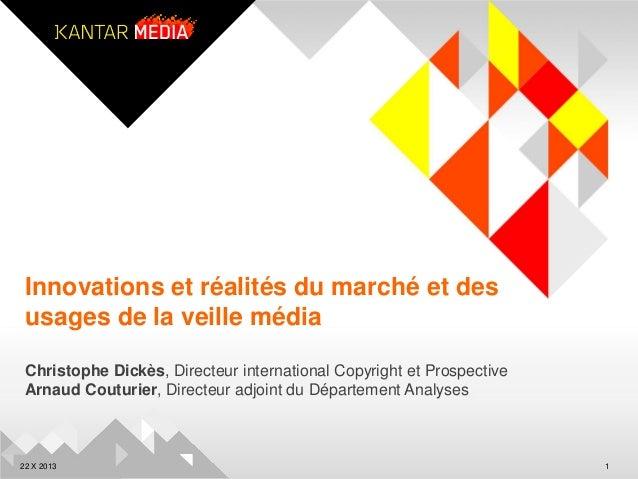 Innovations et réalités du marché et des usages de la veille média Christophe Dickès, Directeur international Copyright et...