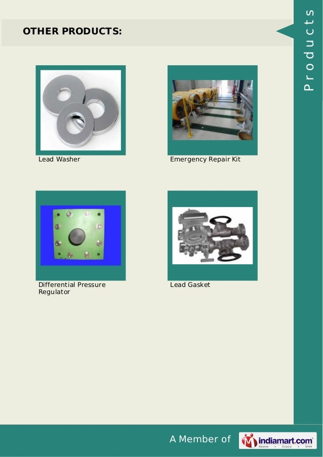 A Member of OTHER PRODUCTS: Lead Washer Emergency Repair Kit Differential Pressure Regulator Lead Gasket Products