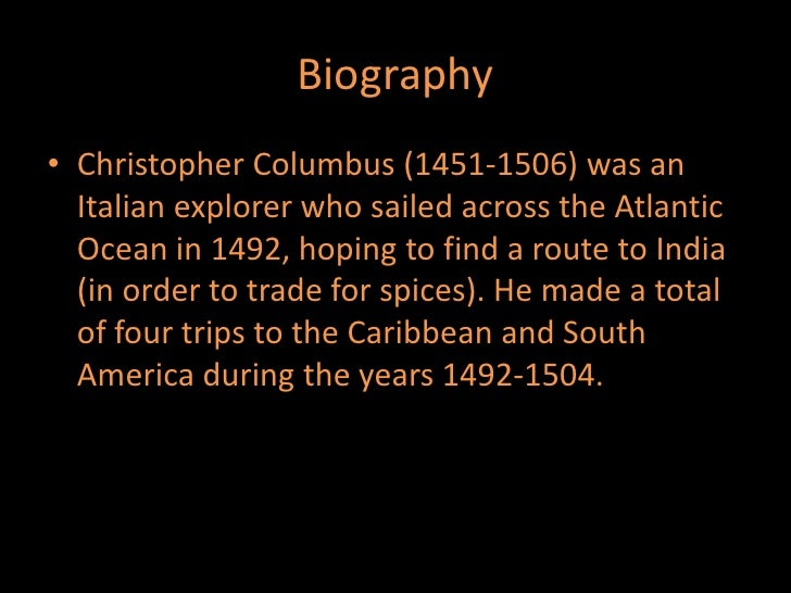 a biography of christopher columbus an italian explorer But a new country this is a timeline of his life  timeline description: amerigo  vespucci was an italian explorer america was named after him  help prepare  ships to sail he helped prepare columbus' ships to sail toward the new world.