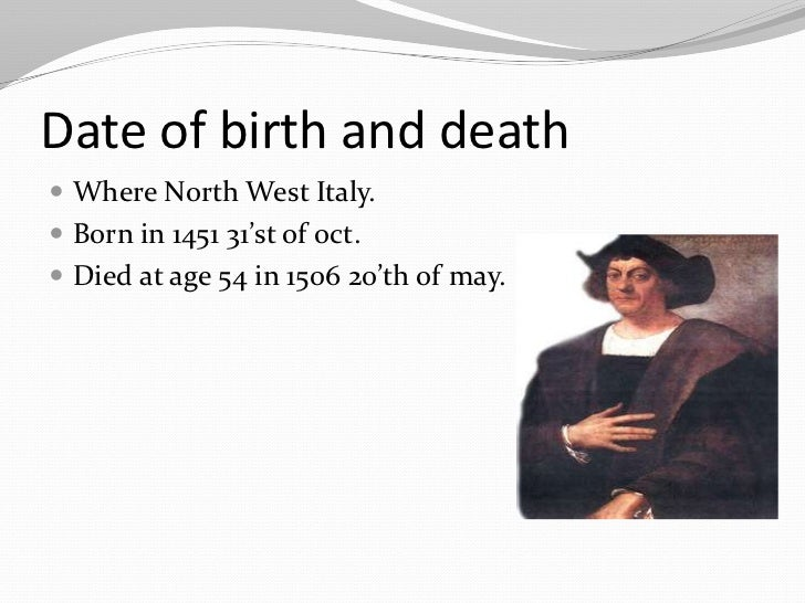 The life death and travels of christopher columbus