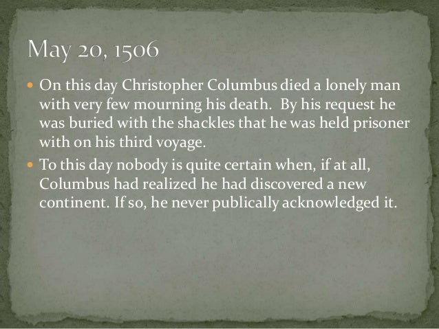 Image result for the death of christopher columbus