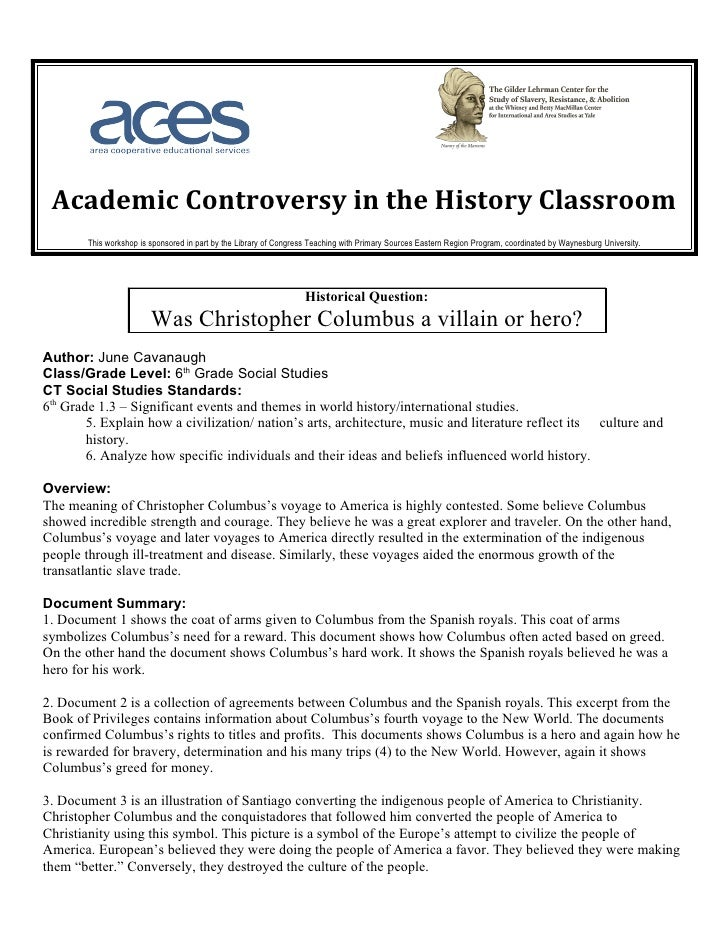 Academic Controversy in the History Classroom        This workshop is sponsored in part by the Library of Congress Teachin...