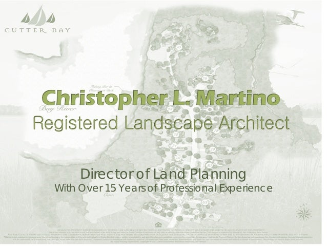 Director of Land PlanningWith Over 15 Years of Professional Experience
