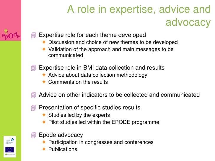 EPODE methodology, education in nutrition & childhood ...