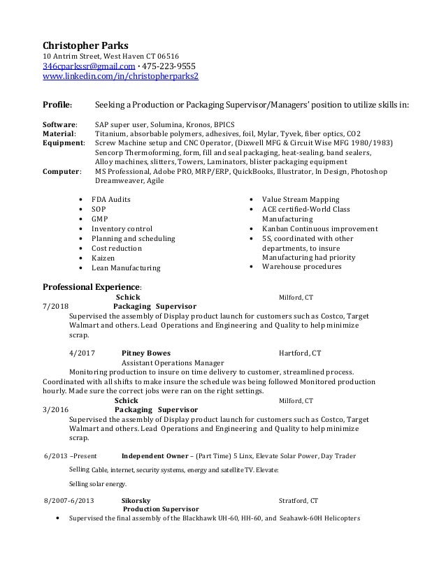 Christopher Parks Resume Production3pitney8272018