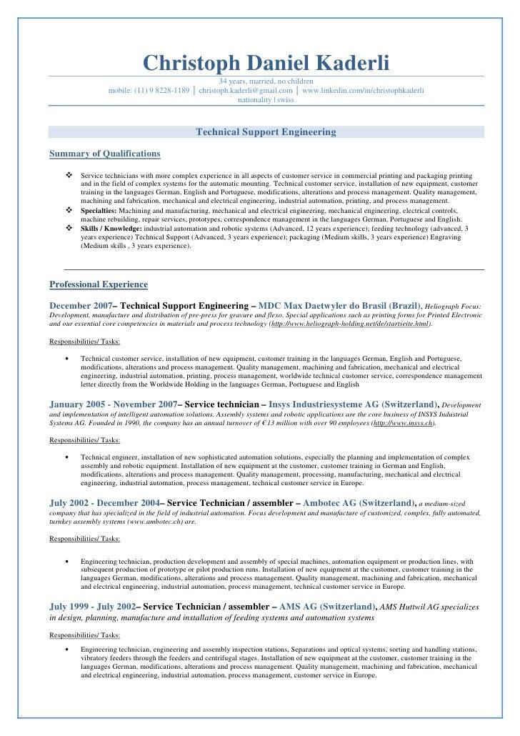 Job Application In English Job Application