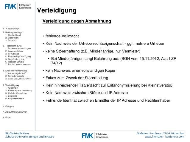 fmk2014 schutzrechtsverletzungen und inkasso by christoph kluss. Black Bedroom Furniture Sets. Home Design Ideas